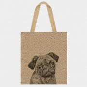 Jute shopping bag - Pug