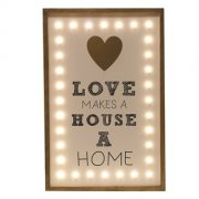 LED Love Makes a Home Sign 45cm
