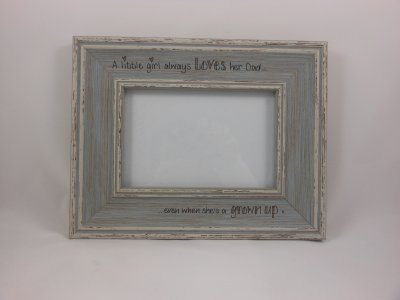 Personalised Distressed Photo Frame - Blue