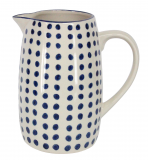 Blue Dot Ceramic Barrel Jug