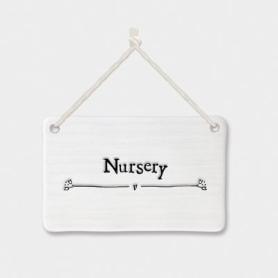 Porcelain sign-Nursery