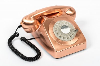 Rotary Telephone - Bronze
