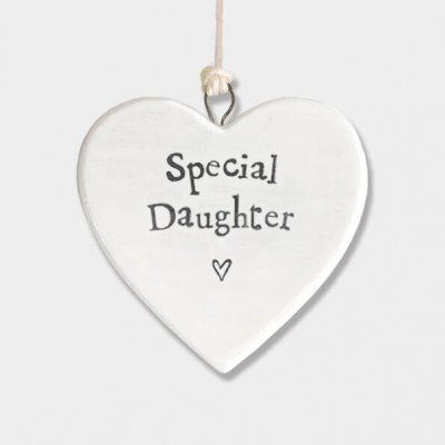 Small Porcelain Round Heart - Special Daughter