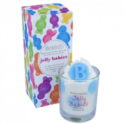 Piped Glass Candle - Jelly Babies