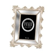 Bevelled Mirrored Champagne Ornate Photo Frame 4X6 With Fleur De Lis