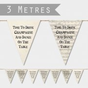Paper Bunting - Time to Drink Champagne