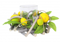 Lemon Twig Leaf T Lite Holder