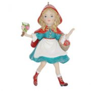 Resin Red Riding Hood Decoration