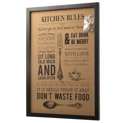 Kitchen Rules Pin Board