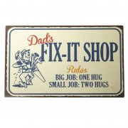 Metal Fix-It Shop Sign