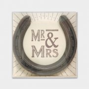 Mr & Mrs Lucky Metal Horseshoe