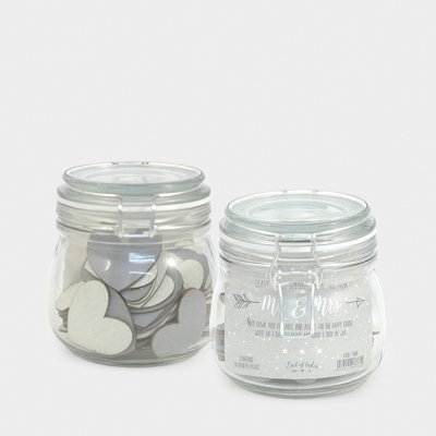 Wedding wishes jar-50 painted hearts