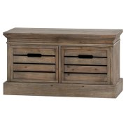 Distressed Pine Two Drawer Low Chest
