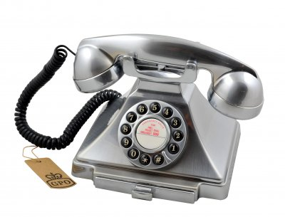 Classic Retro Telephone - Chrome