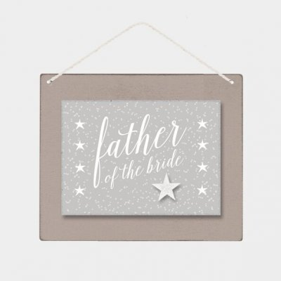 Wooden Sign - Father of the Bride