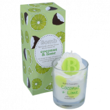 Piped Glass Candle - Coconut & Lime