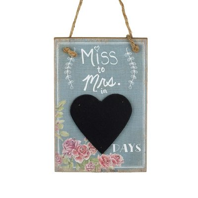 Miss To Mrs In... Chalkboard Countdown