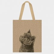 Jute shopping bag - Cat