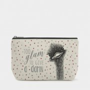 Cosmetic bag - Ostrich