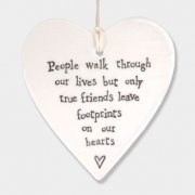 Porcelain Round Heart People Walk