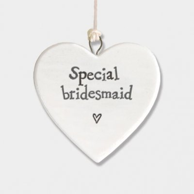 Small Porcelain Round Heart - Special Bridesmaid