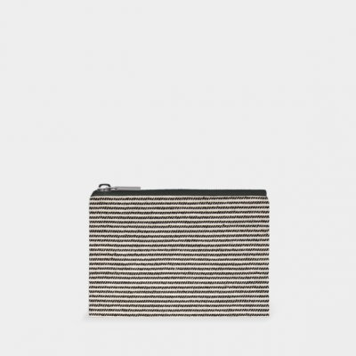 Purse-Thin black stripes