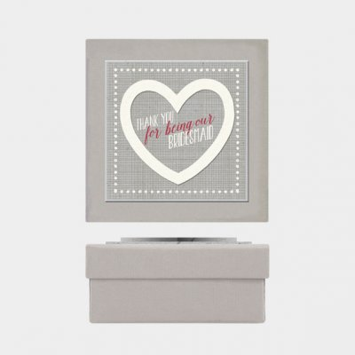 Heart gift box-Thank you bridesmaid